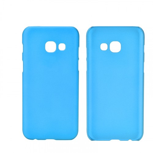 Пластиковый непрозрачный матовый чехол для Samsung Galaxy A5 (2017) Голубой