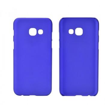 Пластиковый непрозрачный матовый чехол для Samsung Galaxy A5 (2017) Синий