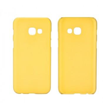 Пластиковый непрозрачный матовый чехол для Samsung Galaxy A5 (2017) Желтый
