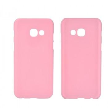 Пластиковый непрозрачный матовый чехол для Samsung Galaxy A5 (2017) Розовый