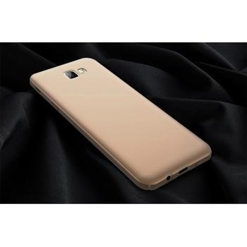Пластиковый непрозрачный матовый чехол с улучшенной защитой элементов корпуса для Samsung Galaxy A5 (2017)  Бежевый