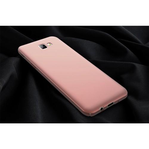 Пластиковый непрозрачный матовый чехол с улучшенной защитой элементов корпуса для Samsung Galaxy A5 (2017) Синий