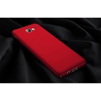 Пластиковый непрозрачный матовый чехол с улучшенной защитой элементов корпуса для Samsung Galaxy A5 (2017)  Красный