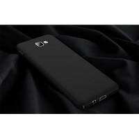 Пластиковый непрозрачный матовый чехол с улучшенной защитой элементов корпуса для Samsung Galaxy A5 (2017)  Черный
