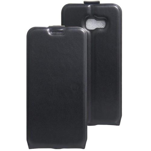 Глянцевый водоотталкивающий чехол вертикальная книжка на силиконовой основе с отсеком для карт на магнитной защелке для Samsung Galaxy A5 (2017) Черный