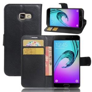 Чехол горизонтальная книжка подставка на силиконовой основе с отсеком для карт на магнитной защелке для Samsung Galaxy A5 (2017)