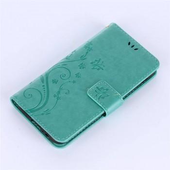 Чехол горизонтальная книжка подставка текстура Узоры на силиконовой основе с отсеком для карт на магнитной защелке для Samsung Galaxy A5 (2017)  Зеленый