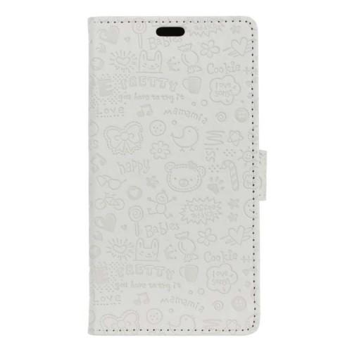 Чехол горизонтальная книжка подставка текстура Мультик на силиконовой основе с отсеком для карт на магнитной защелке для Samsung Galaxy A5 (2017)  Черный