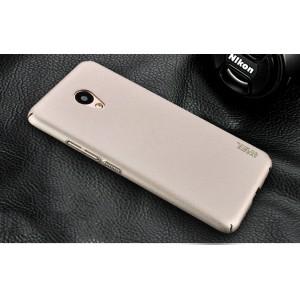Пластиковый непрозрачный матовый чехол с повышенной шероховатостью и допзащитой торцев для Meizu M5 Note
