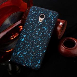 Пластиковый непрозрачный матовый чехол с голографическим принтом Звезды для Meizu M5 Note