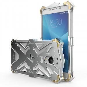Цельнометаллический противоударный чехол из авиационного алюминия на винтах с мягкой внутренней защитной прослойкой для гаджета с прямым доступом к разъемам для Meizu M5 Note