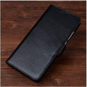 Кожаный чехол горизонтальная книжка подставка (премиум нат. кожа) с магнитной застежкой для Meizu M5 Note