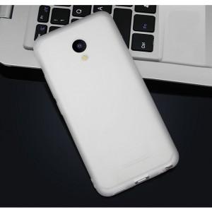 Силиконовый матовый непрозрачный чехол для Meizu M5 Белый