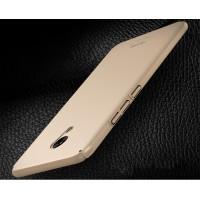 Пластиковый непрозрачный матовый чехол с улучшенной защитой элементов корпуса для Meizu M5  Бежевый