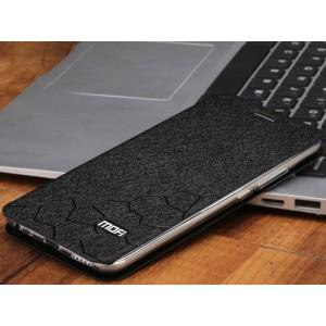 Чехол горизонтальная книжка подставка текстура Соты на силиконовой основе для Meizu M5  Черный