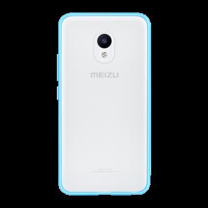 Оригинальный силиконовый матовый полупрозрачный чехол для Meizu M5