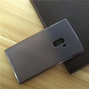 Силиконовый матовый полупрозрачный чехол для Xiaomi Mi Mix  Черный