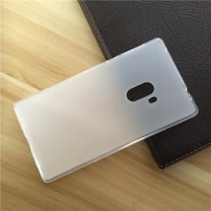 Силиконовый матовый полупрозрачный чехол для Xiaomi Mi Mix  Белый