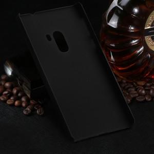 Пластиковый непрозрачный матовый чехол для Xiaomi Mi Mix Черный
