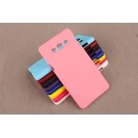 Пластиковый непрозрачный матовый чехол для Samsung Galaxy A3 Розовый