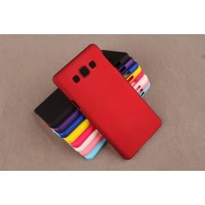 Пластиковый непрозрачный матовый чехол для Samsung Galaxy A3 Красный