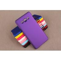 Пластиковый непрозрачный матовый чехол для Samsung Galaxy A3 Фиолетовый