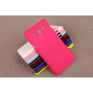 Пластиковый непрозрачный матовый чехол для Samsung Galaxy A3 Пурпурный