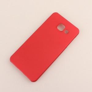 Пластиковый непрозрачный матовый чехол для Samsung Galaxy A3 (2016) Красный