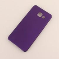 Пластиковый непрозрачный матовый чехол для Samsung Galaxy A3 (2016) Фиолетовый