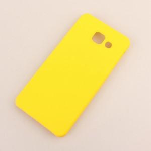 Пластиковый непрозрачный матовый чехол для Samsung Galaxy A3 (2016) Желтый