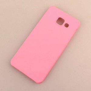 Пластиковый непрозрачный матовый чехол для Samsung Galaxy A3 (2016) Розовый
