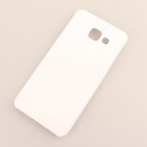 Пластиковый непрозрачный матовый чехол для Samsung Galaxy A3 (2016) Белый