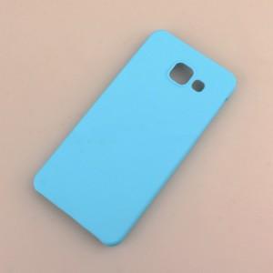 Пластиковый непрозрачный матовый чехол для Samsung Galaxy A3 (2016) Голубой