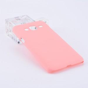 Пластиковый непрозрачный матовый чехол для Samsung Galaxy J3 (2016) Розовый