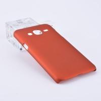Пластиковый непрозрачный матовый чехол для Samsung Galaxy J3 (2016) Красный