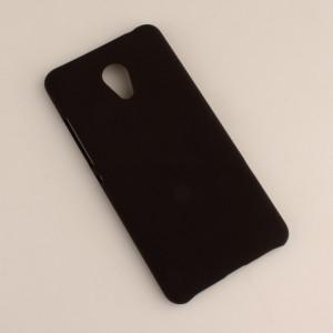 Пластиковый непрозрачный матовый чехол для Meizu M3s Mini Черный