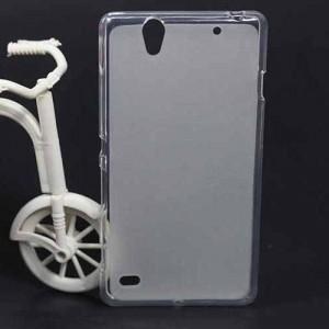 Силиконовый матовый полупрозрачный чехол для Sony Xperia C4 Белый