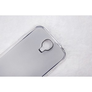 Силиконовый матовый полупрозрачный чехол для Samsung Galaxy S4 Белый