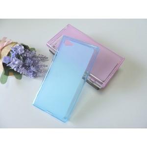 Силиконовый матовый полупрозрачный чехол для Sony Xperia Z5 Compact  Голубой