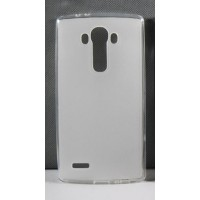 Силиконовый матовый полупрозрачный чехол для LG G4 Stylus  Белый
