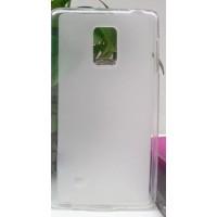 Силиконовый матовый полупрозрачный чехол для Samsung Galaxy Note Edge Белый