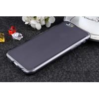 Силиконовый матовый полупрозрачный чехол для Iphone 6/6s  Черный