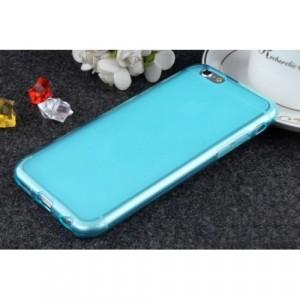 Силиконовый матовый полупрозрачный чехол для Iphone 6 Plus/6s Plus  Голубой