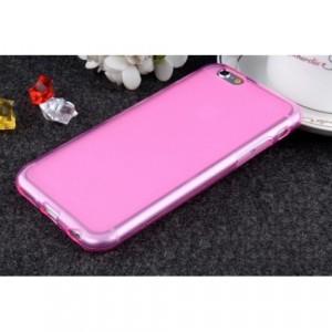 Силиконовый матовый полупрозрачный чехол для Iphone 6 Plus/6s Plus  Розовый