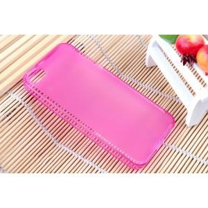 Силиконовый матовый полупрозрачный чехол для Iphone 5c Розовый