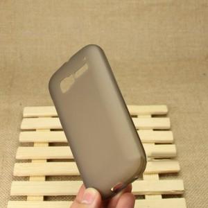 Силиконовый матовый полупрозрачный чехол для Alcatel One Touch Pop C5