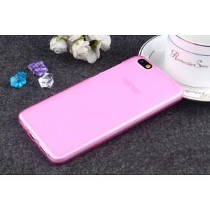 Силиконовый матовый полупрозрачный чехол для Huawei Honor 4X Розовый