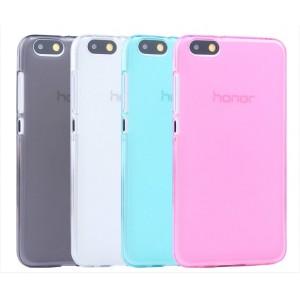 Силиконовый матовый полупрозрачный чехол для Huawei Honor 4X