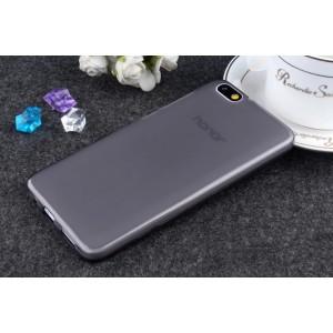 Силиконовый матовый полупрозрачный чехол для Huawei Honor 4X Черный