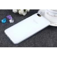 Силиконовый матовый полупрозрачный чехол для Huawei Honor 4X Белый